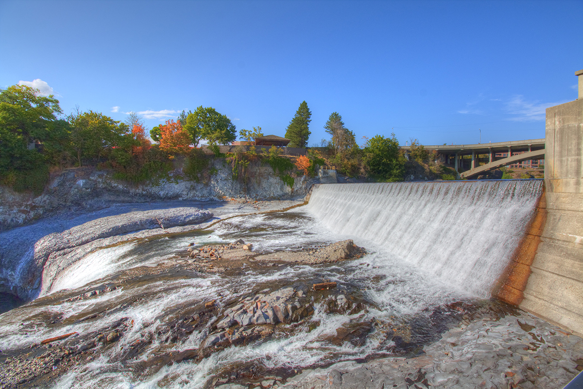 The Spokane River does not have nearly the same volume of water in the Fall that it does in the Spring.