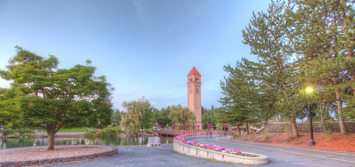Spokane Riverfront Park and the Spokane Clocktower